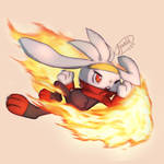 Go! Raboot! Use Flame Charge!