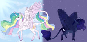 Celestia and Luna Headcanons