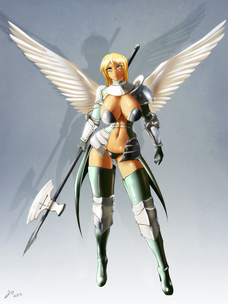 Angelic Halberdier by JessicaElwood