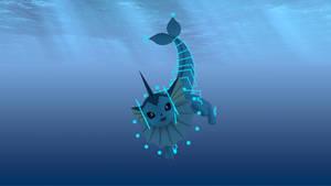Vaporeon 3D animation rig by Tassadoul