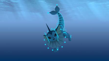 Vaporeon 3D animation rig