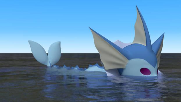 Vaporeon swimming