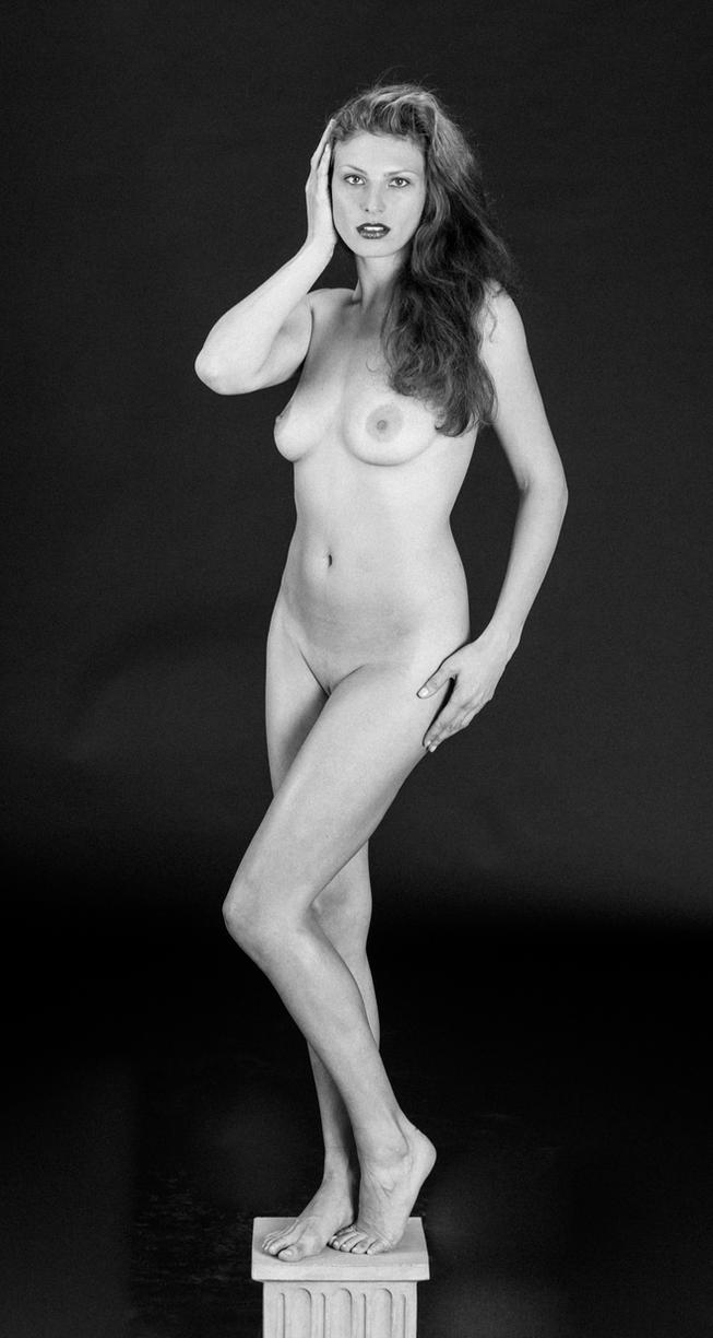 Linda on a Pedestal by huitphotography