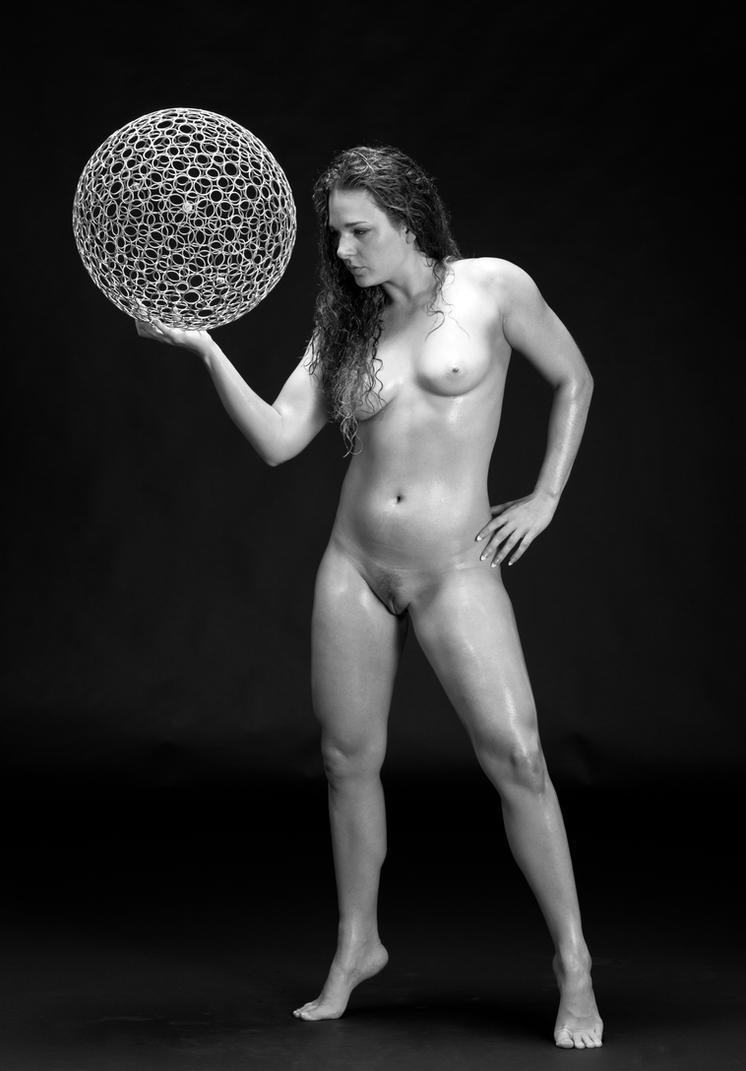 Cat with a sphere by huitphotography
