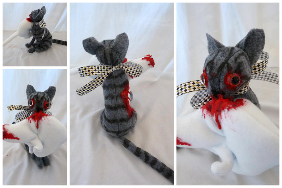 Zombie Cat and Ermine by IckyDog