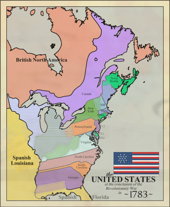 State Of Nova Scotia Map Of The Us 1783 By Lylycsm