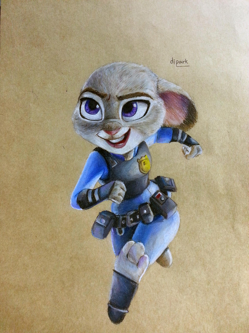 Zootopia Judy Hopps fan art with colorpencil