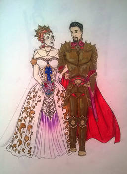 The Bride and Groom 40K Style