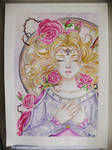 Sleeping Beauty, watercolours