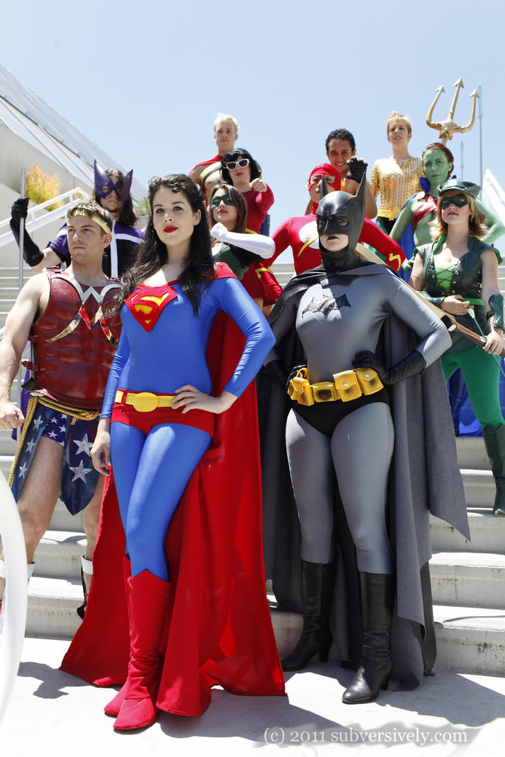 The Gender Bent Justice League SDCC 11 by miss-kitty-j