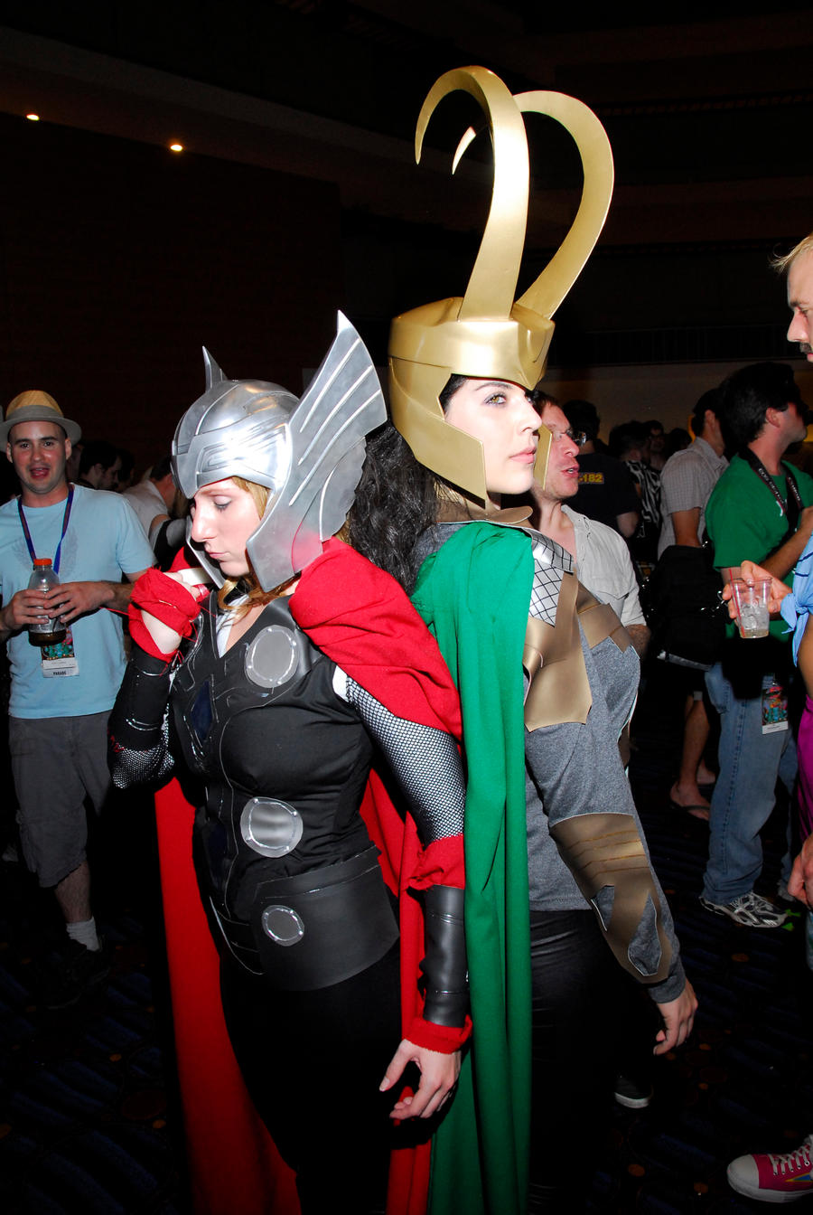 Thor and Loki Lady versions by miss-kitty-j