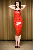Dita Von Teese Latex dress by miss-kitty-j