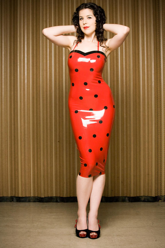 Dita Von Teese Latex dress
