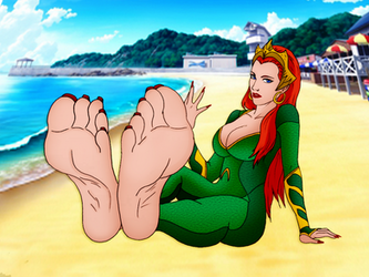 Queen Mera's Royal Soles (Colored) by OrangeThunder2