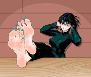 Fubuki Feet (Colored) by OrangeThunder2