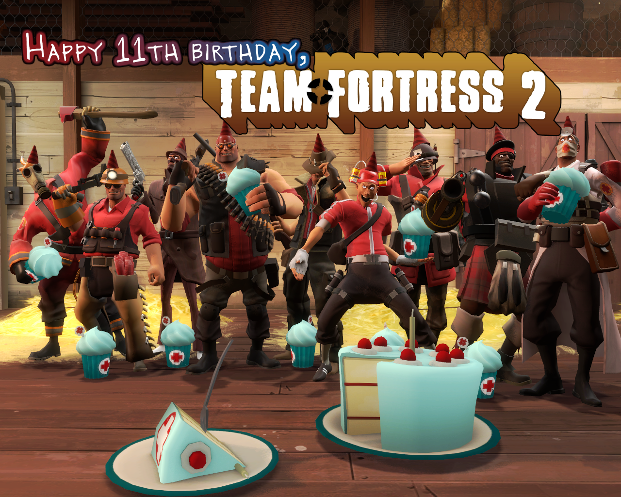 Happy 11th Birthday, Team Fortress 2! by HeroWolfMod
