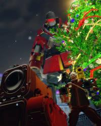 Santa Hero is coming to Town by HeroWolfMod