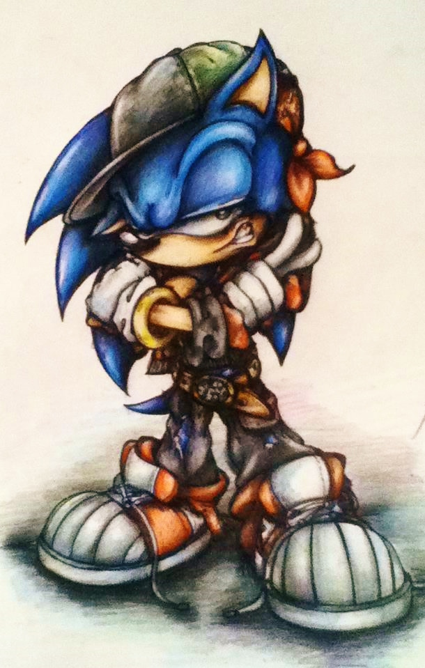 Badass Sonic Tattoo Design Colour Pencil By Misstangshan95 On Deviantart