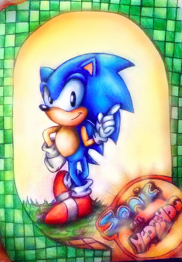 my first sonic drawing colour pencil by misstangshan95 - Drawing Colour Games