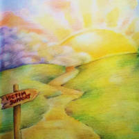 The path to Enlightenment - Colour pencil