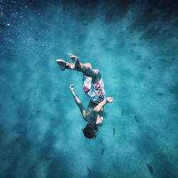 In the sea...