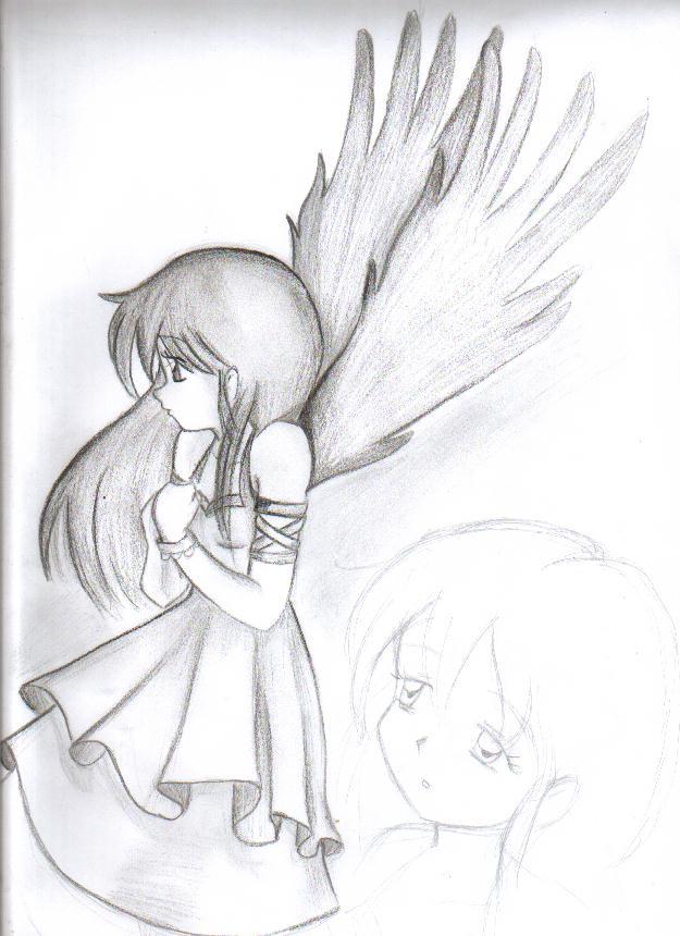 Encantador Lindo Anime Angel Para Colorear Bandera - Ideas Para ...