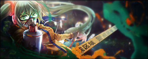 Hatsune Miku Splatter Spray by BlueCasters