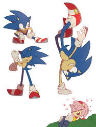Sonic doodles by rosuroid
