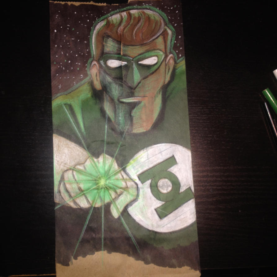Green Lantern Lunchbag by Tribal-Clown