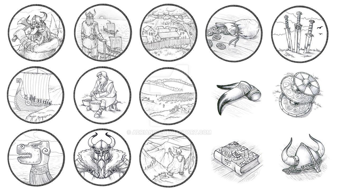 Viking Icons by AdrianDIS