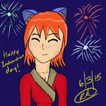 Independence day art work practice 6/3/15 by Supersaiyannightwing
