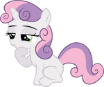 Sweetie Belle In Thought