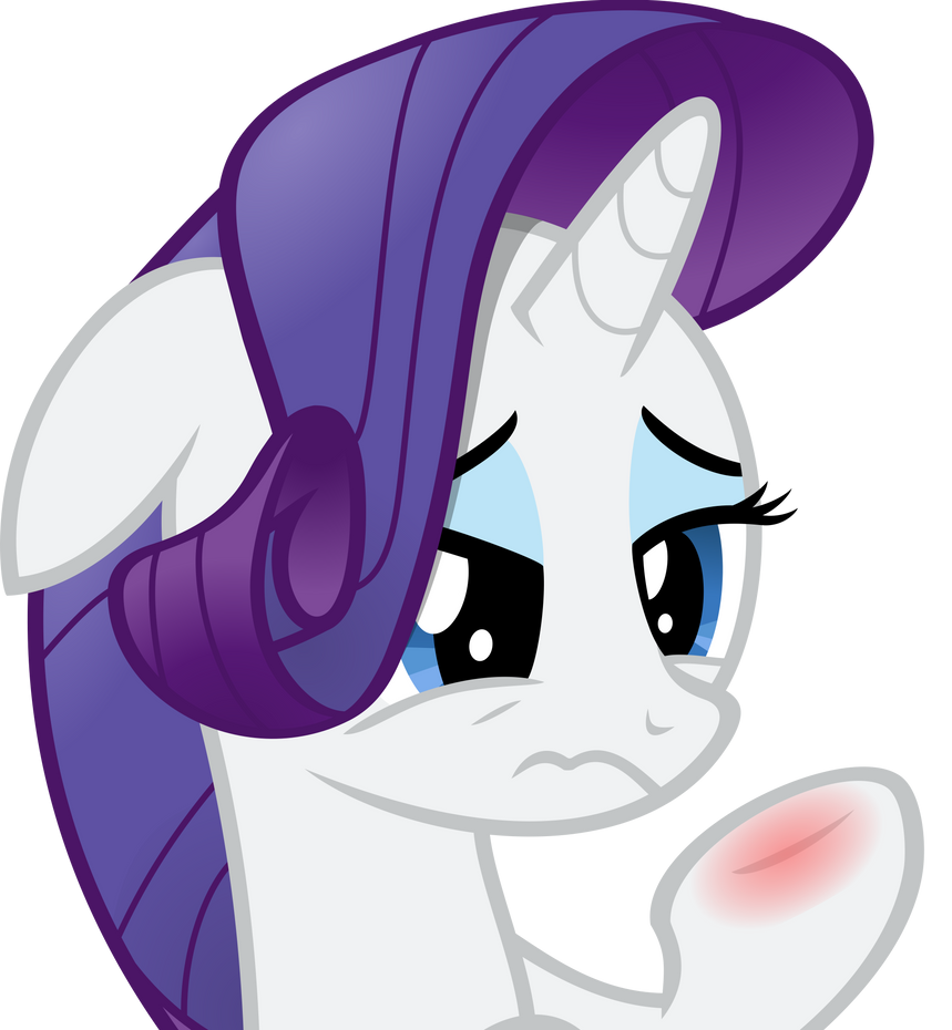Rarity's Inflamed Cuteness by Stayeend