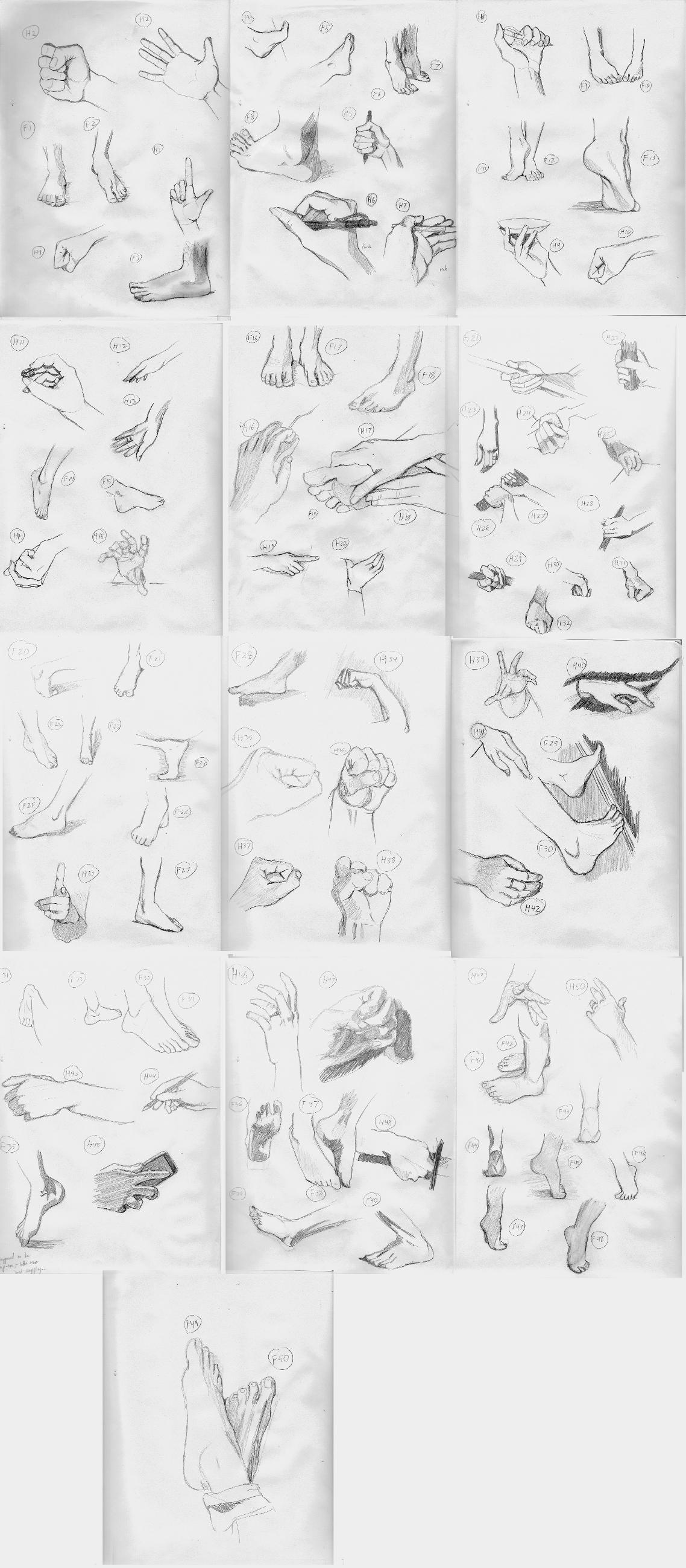 50 Hands / 50 Feet Challenge by MichaelHoweArts