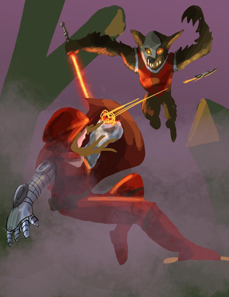 Red Riding Hood Battle by MichaelHoweArts