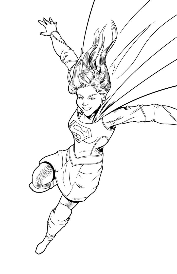Supergirl coloring page by michaelhowearts on deviantart for Supergirl coloring page