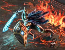 Fingolfin Before Morgoth by MichaelHoweArts