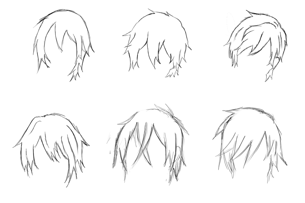 Boy Haircuts Drawing : Deviantart anime haircut newhairstylesformen