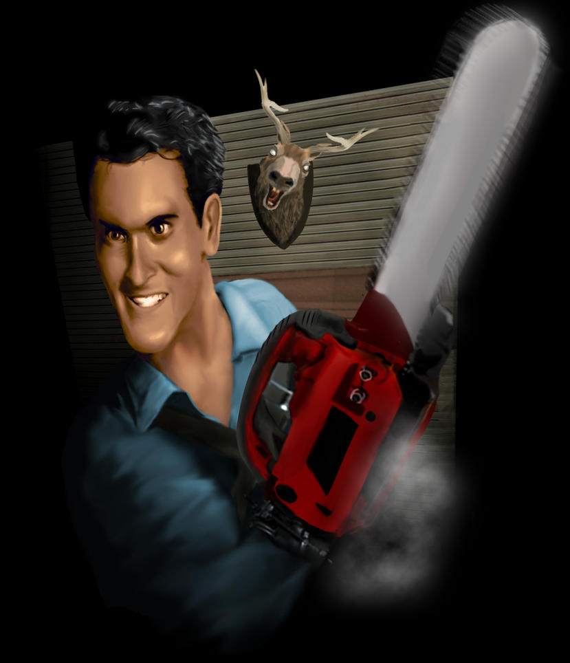 Evil Dead, Ash and chainsaw by Sapo-king on deviantART