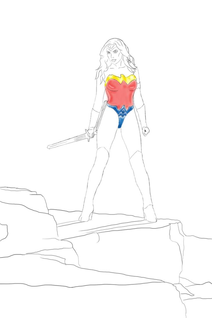 WIP of Wonder Woman by ilexx5