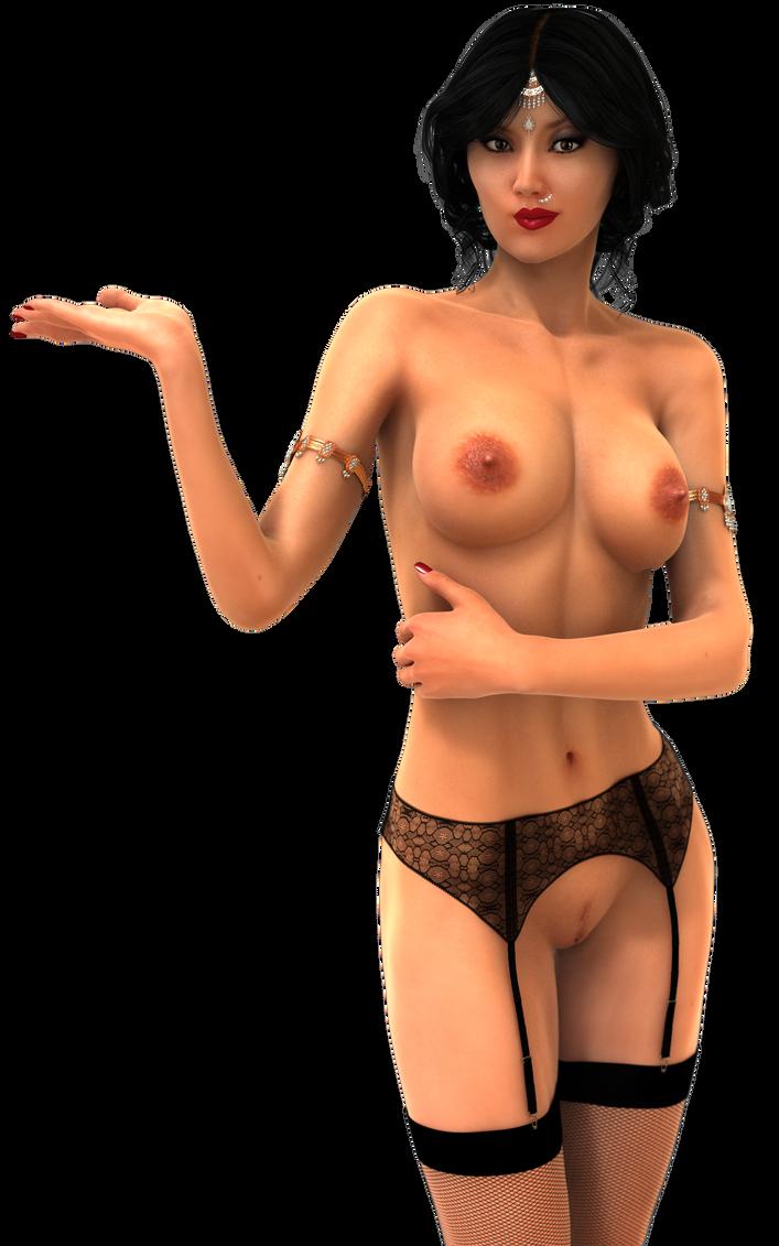 Asa in her pantyhose, garter belt and jewellery by ilexx5