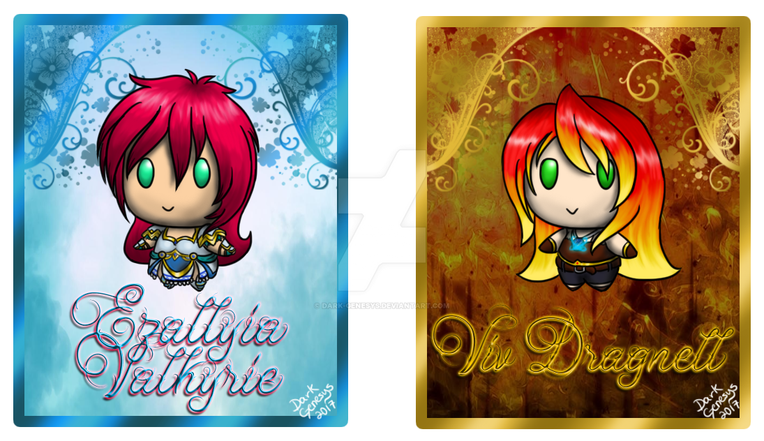 .:: Chibi Pipsqueaks EG and Viv Cards ::. by Dark-Genesys