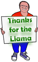 Thanks Llama by Colin-Bentham