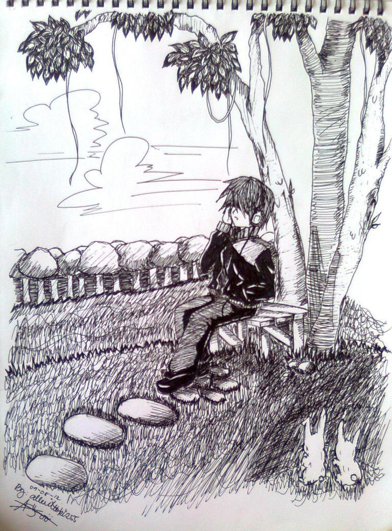 Sketch alone by allenwalker chan