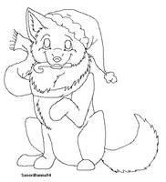 Christmas Wolf Template by SasoriDanna94
