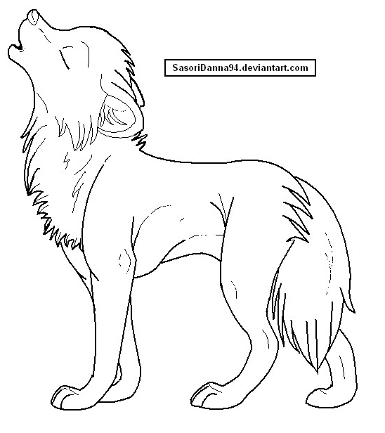 fursuit coloring pages - howling wolf template by sasoridanna94 on deviantart