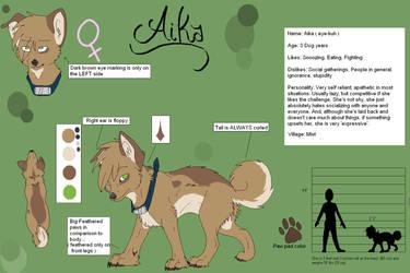 Aika Reference Sheet by SasoriDanna94