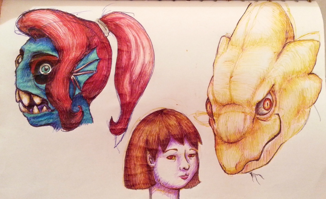 Undertale's Scariest Monsters/Human by No-44
