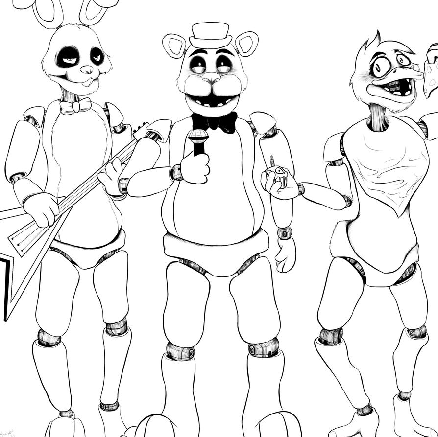 fnaf cute animatronics coloring pages - photo #4