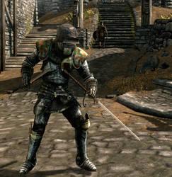 Yvette in heavy armor (Skyrim)